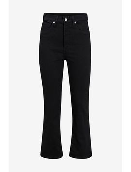 jeans-mile-high-crop-flare-black by levis