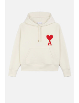 Hoodie With Big Ami Coeur Patch by Ami Paris