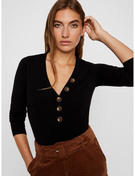 Light Sweater With Button Details by Vero Moda