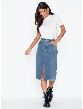 Slflana Hw Hush Blue Denim Skirt Ex by Selected Femme