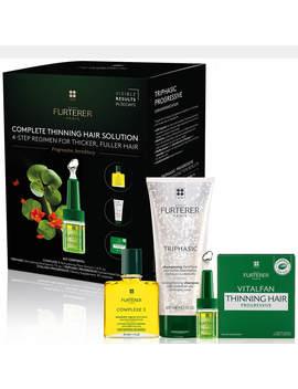 Rene Furterer Complete Thinning Hair Solution 4 Step Kit   Progressive, Hereditary   Us (Worth $203) by René Furterer