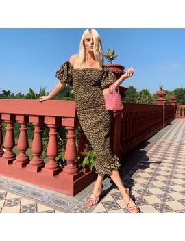 Leopard Jo Jo Maxi  Dress by Never Fully Dressed
