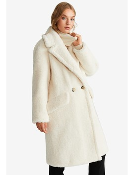 Faux Shearling Coat by Mango