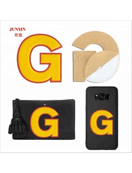 2018 Custom Adhesive Embossed Case Bag Decorative Pu Leather Sticker by Jx