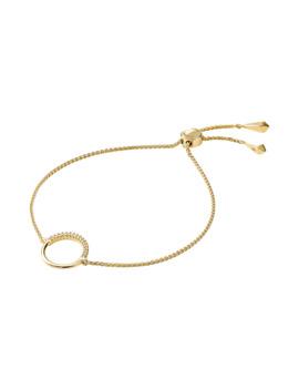 Michael Kors Custom Kors 14ct Gold Plated Circle Bracelet by Goldsmiths