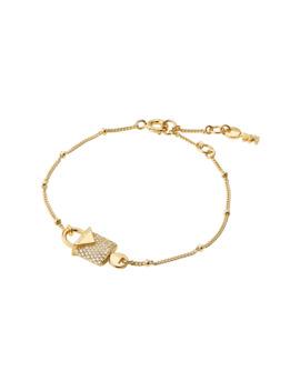 Michael Kors 14ct Gold Plated Colour Padlock Bracelet by Goldsmiths