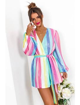 Party Time   Mini Dress In Pastel/Stripe by Dlsb
