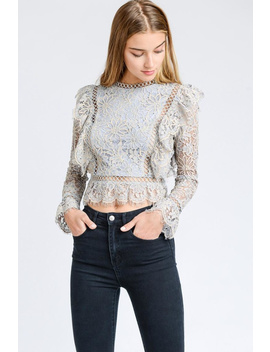 Crochet Lace Crop Top by Chikas, Los Angeles