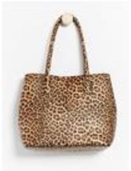 Leopardmönstrad Stor Väska by Lindex
