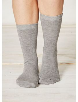 Solid Doris Plain Socks by Thought