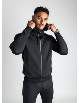 Gk Basis Poly Tracksuit Top   Black by The Gym King