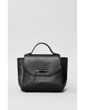 Top Handle Leather Satchel by Asyaasya
