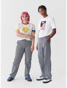 Lazy Oaf X Mr. Men Mr. Happy Pinstripe Pants by Lazy Oaf