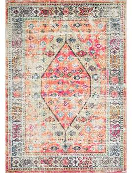 Beige Nordic Medallion Chroma Area Rug by Rugs Usa