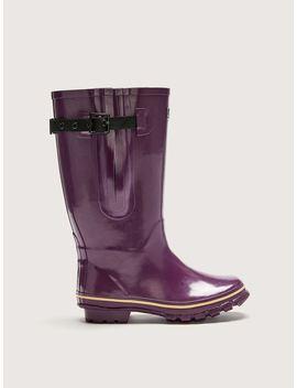Extra Wide Calf Purple Rain Boot   Jileon by Penningtons