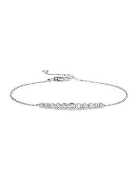 Diamond Graduated Curve Bracelet In 14k White Gold (1/2 Ct. Tw.) by Blue Nile