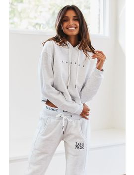 Ash White Cropped Hoody by Lounge