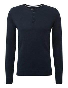 Mit Henley Kragen   Sweatshirt by Tom Tailor