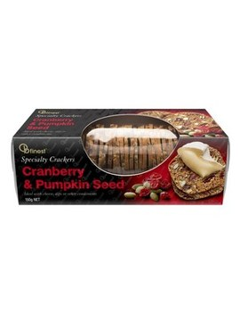 Cranberry & Pumpkin Seed Crackers by Ob Finest