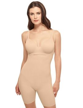 Beyond Naked Cotton Blend Open Bust Thigh Shaper by Wacoal America