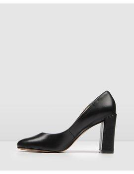 Payton High Heels Black Leather by Jo Mercer