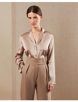 Блуза на пуговицах из шёлка by 12 Storeez