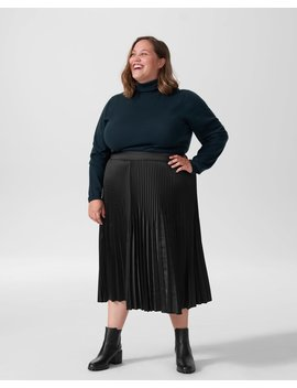 Kniko Pleated Midi Skirt by Universal Standard