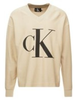 Reversed V Neck    Sweatshirt by Calvin Klein Jeans