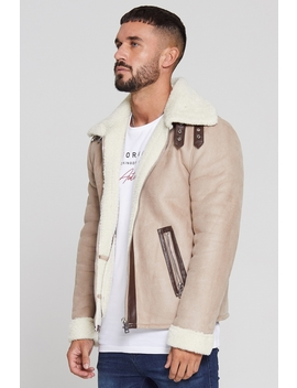 Shearling Tan Jacket by Good For Nothing Mens