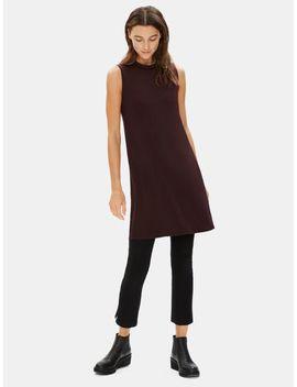 Tencel Jersey Mock Neck Dress by Eileen Fisher