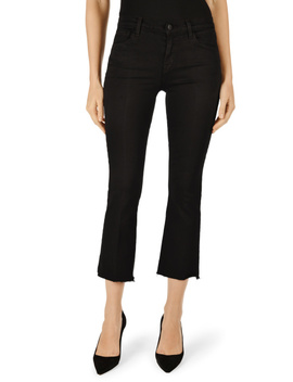 Selena Mid Rise Cropped Boot Cut In Photo Ready Black Bastille by J Brand