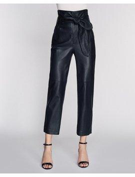 Brennan Leather Pant In Black by Marissa Webb