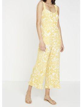 Hestia Floral Print   Jasmine Yellow   Kasbah Jumpsuit by Faithfull The Brand