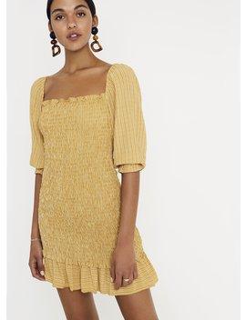 Ceritti Check Print   Desert   Es Saada Mini Dress by Faithfull The Brand