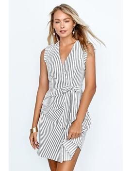 Striped Sleeveless Mini Dress by Cupshe