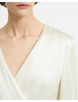 Hammered Viscose Wrap Blazer by Theory