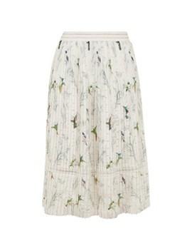 Linnett Birds Pleated Skirt by Ted Baker