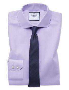 Extra Slim Fit Non Iron Twill Lilac Shirt by Charles Tyrwhitt