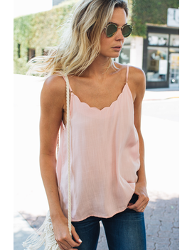 Simply Scalloped Camisole by Amaryllis Apparel