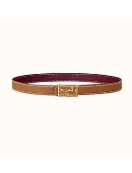 Caleche Belt Buckle & Sellier Reversible Leather Strap 24 Mm by Hermès