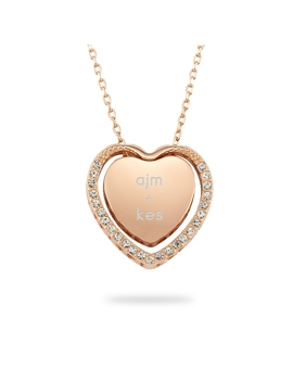 Rose Gold Sterling Silver Heart Pendant Necklace by Things Remembered