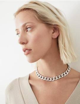Silver Chain Choker Necklace by Pixie Market