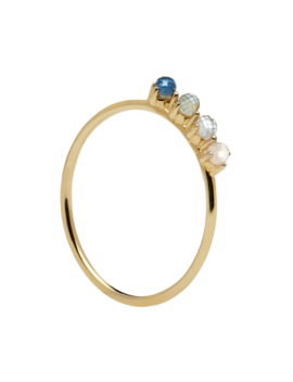 Cobalt Gold Ring by P D Paola