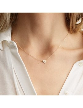 Frankie Initial Heart Necklace by Gldn