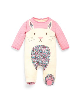 Bunny Appliqué Baby Sleepsuit by Jo Jo Maman Bebe