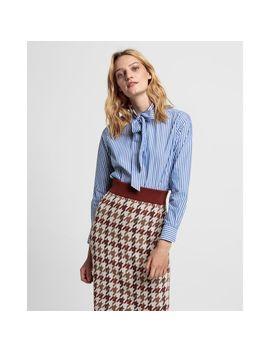 Gant Tech Prep™ Stripe Broadcloth Bow Blouse by Gant Uk