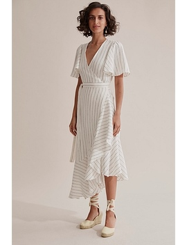 Wrap Stripe Ruffle Dress by Country Road