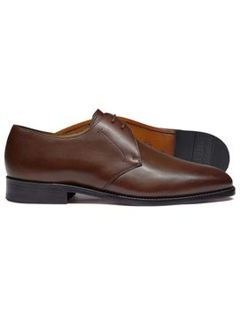 Brown Goodyear Welted 2 Eyelet Derby Shoes by Charles Tyrwhitt