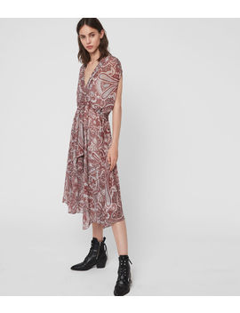 Romina Scarf Dress by Allsaints