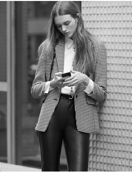 Houndstooth Check Tailored Jacket by Sandro Paris